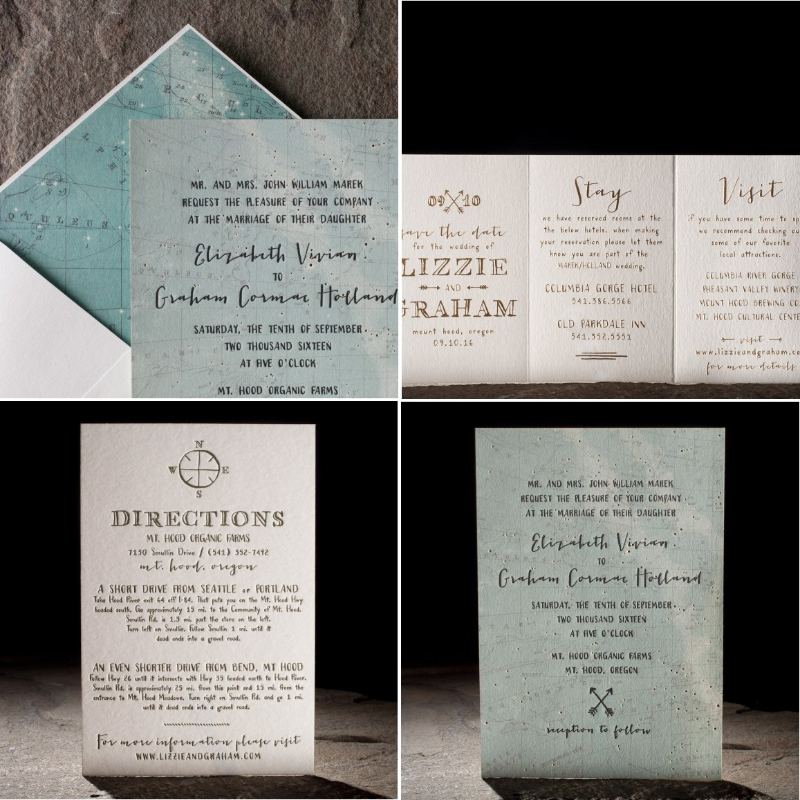 Cimarron Wedding Stationery Suite from Smock