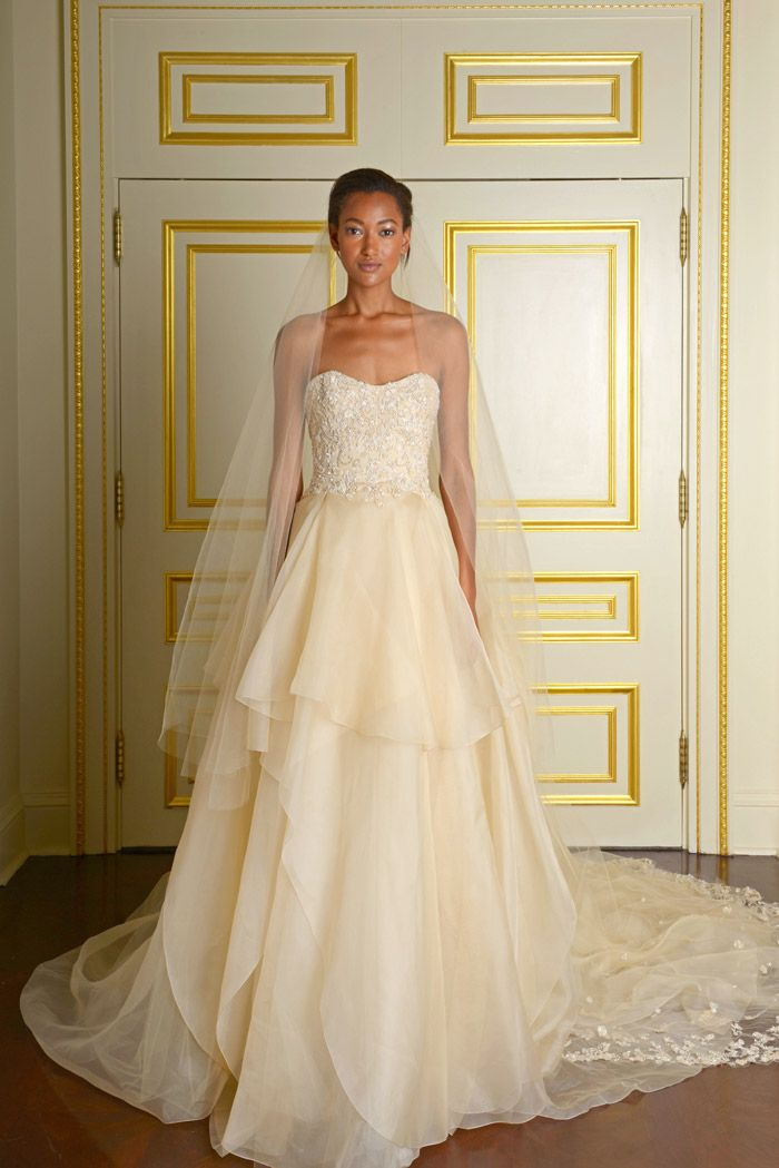 Coloured Wedding Dress from Marchesas Fall 2015 Bridal Collection