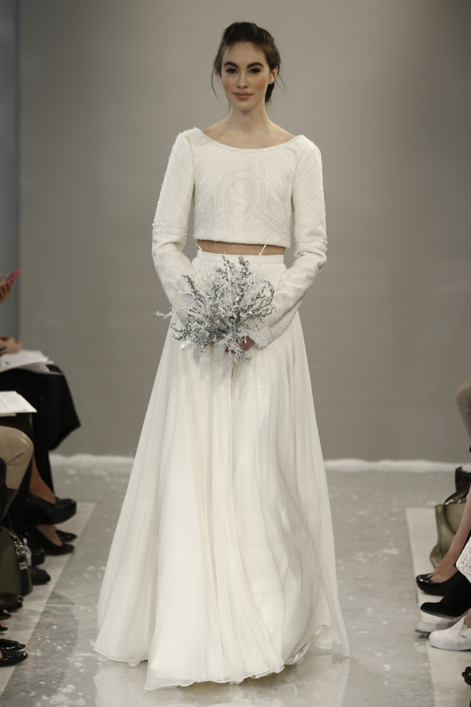 Cropped Wedding Dress from Theia's Fall 2015 Bridal Collection