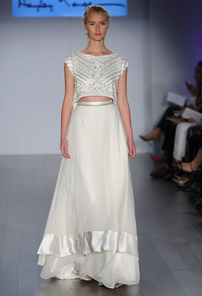 Cropped Wedding Dress from Hayley Paige's Fall 2015 Bridal Collection