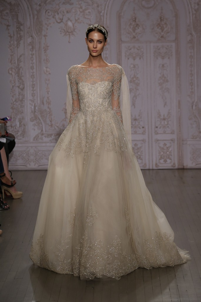 Top 10 bridal trends for 2015 chic vintage brides chic for Price of monique lhuillier wedding dresses