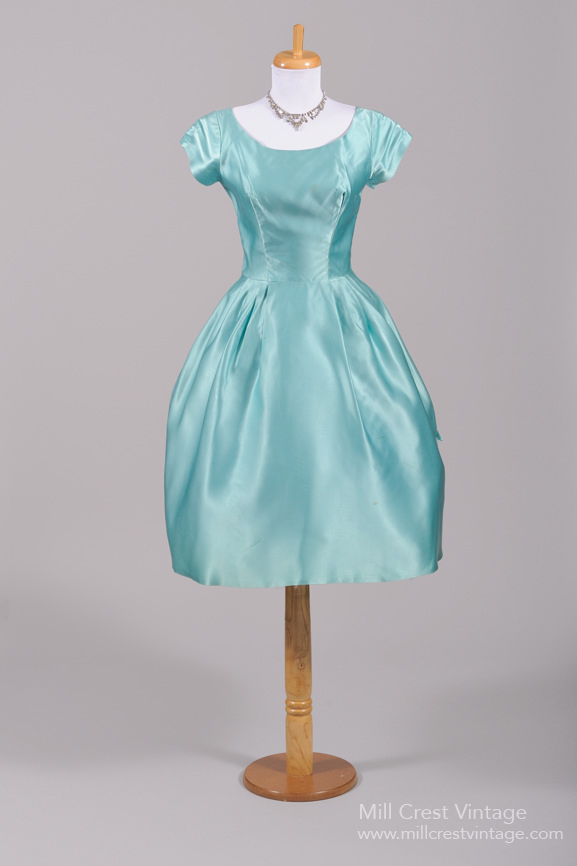 1950s Turquoise Short Dress from Mill Crest Vintage