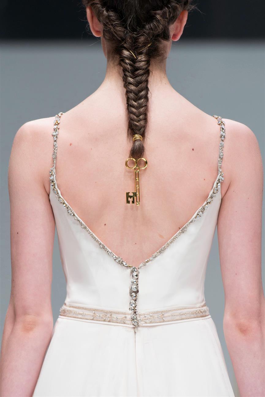 Gwendolynne Khaleesi Wedding Dress Back