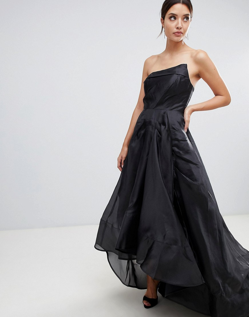 Hi Low Black Wedding Dress