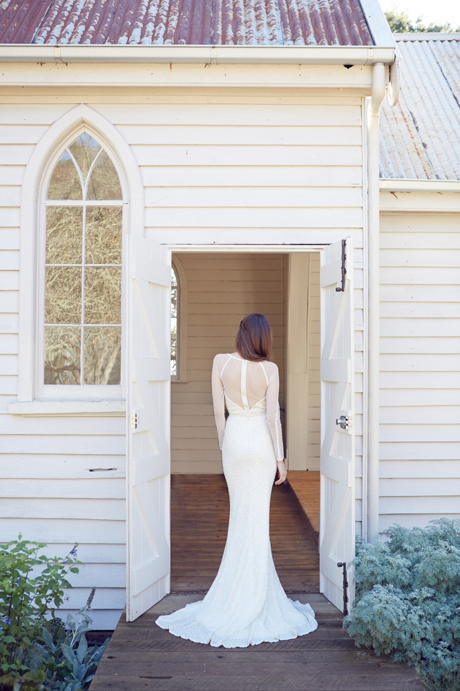 KWH by KAREN WILLIS HOLMES Bridal Gowns - Carinna Back