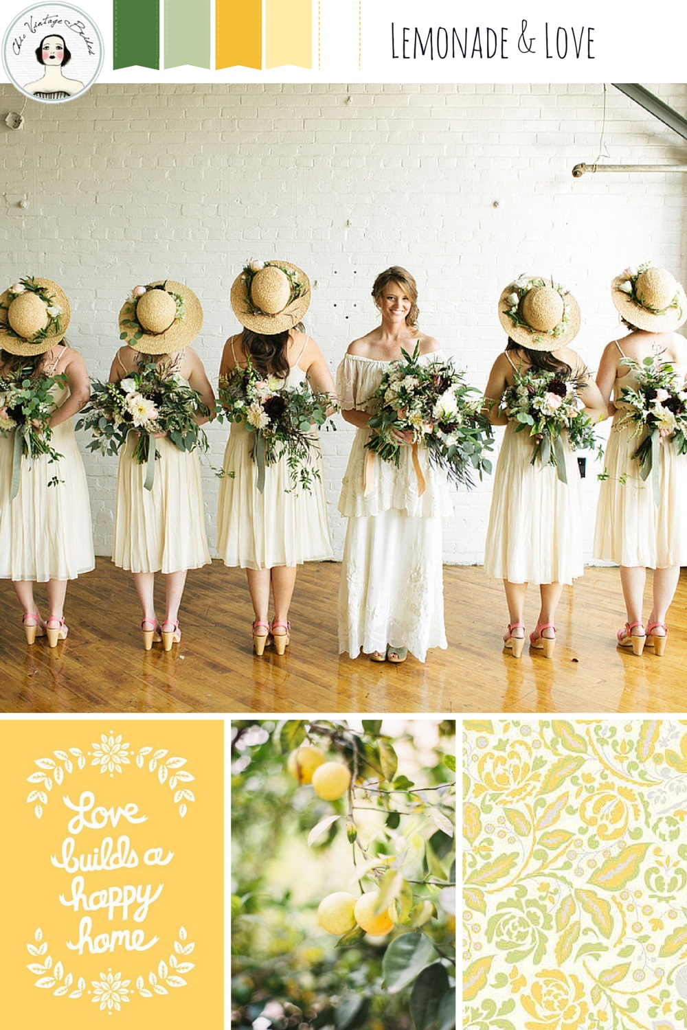 Lemonade & Love - Yellow Wedding Mood Board