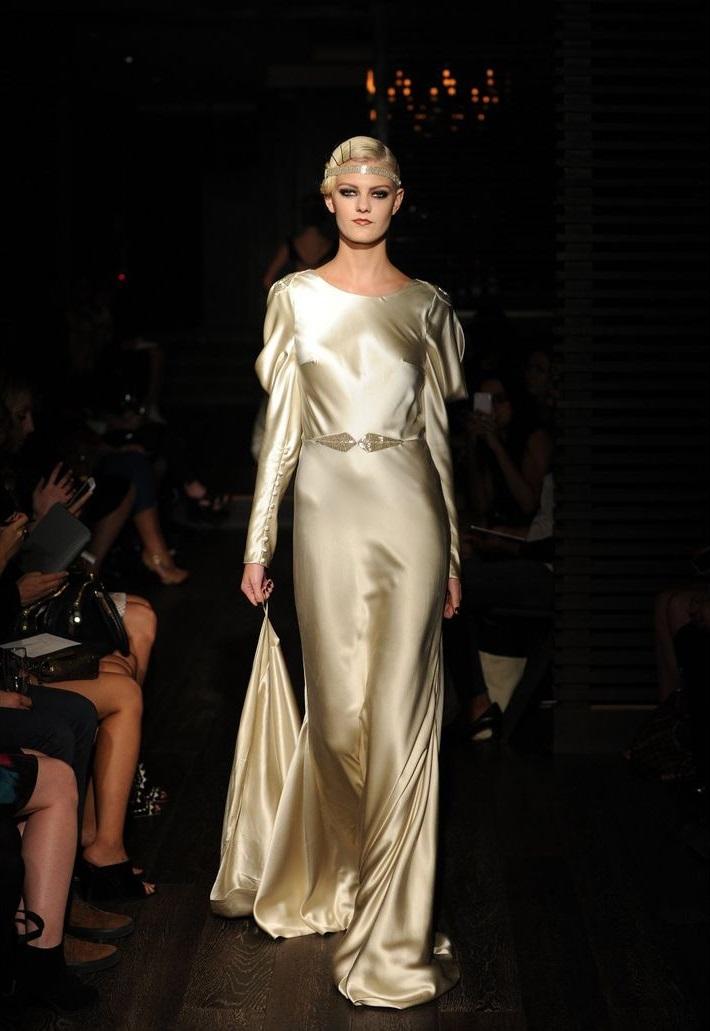 Long Sleeve Wedding Dress from Johanna Johnsons Fall 2015 Bridal Collection