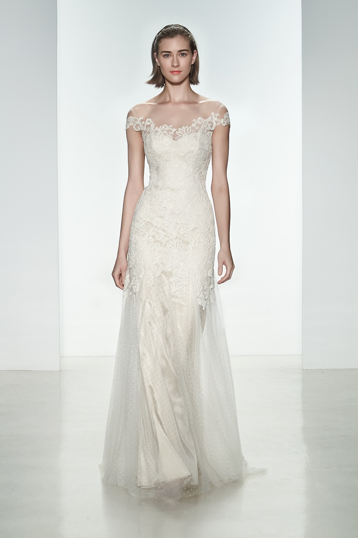 Off Shoulder Wedding Dress from Christos 2015 Bridal Collection