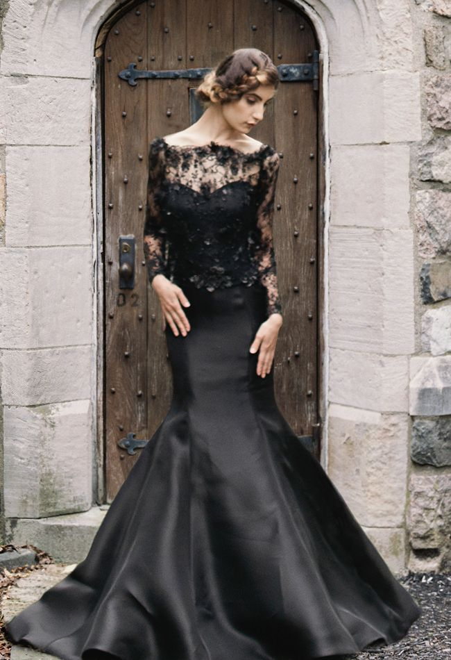 Sareh Nouri Fall 2015 Black Wedding Dress