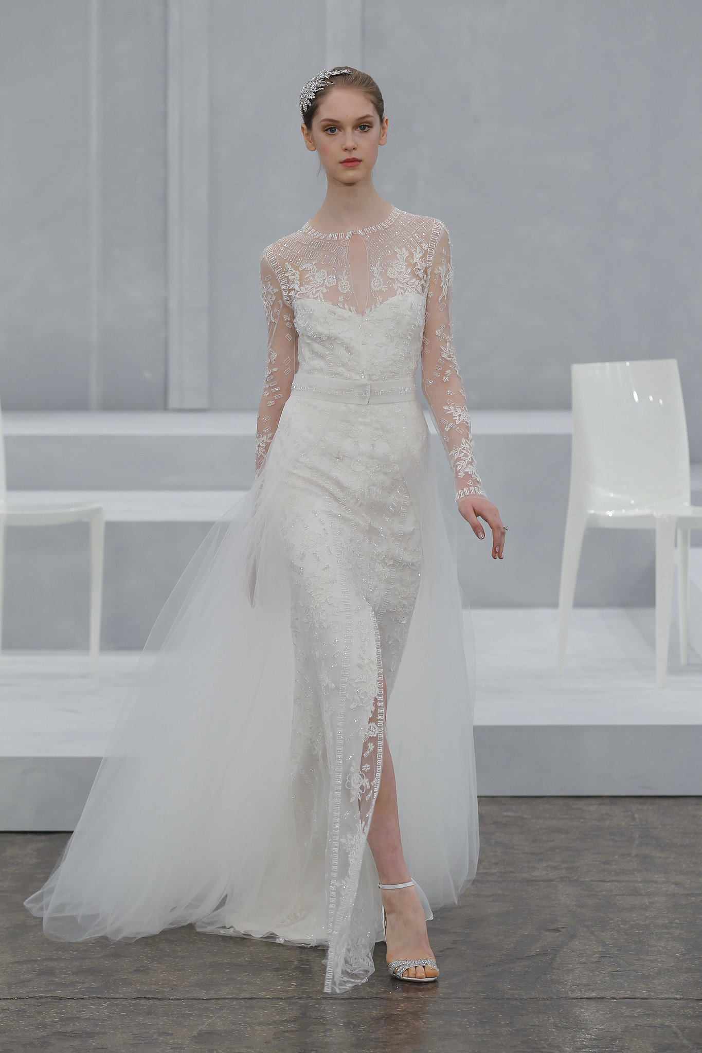 Screen Siren Slit Wedding Dress from Monique Lhuillier's Spring 2015 Bridal Collection