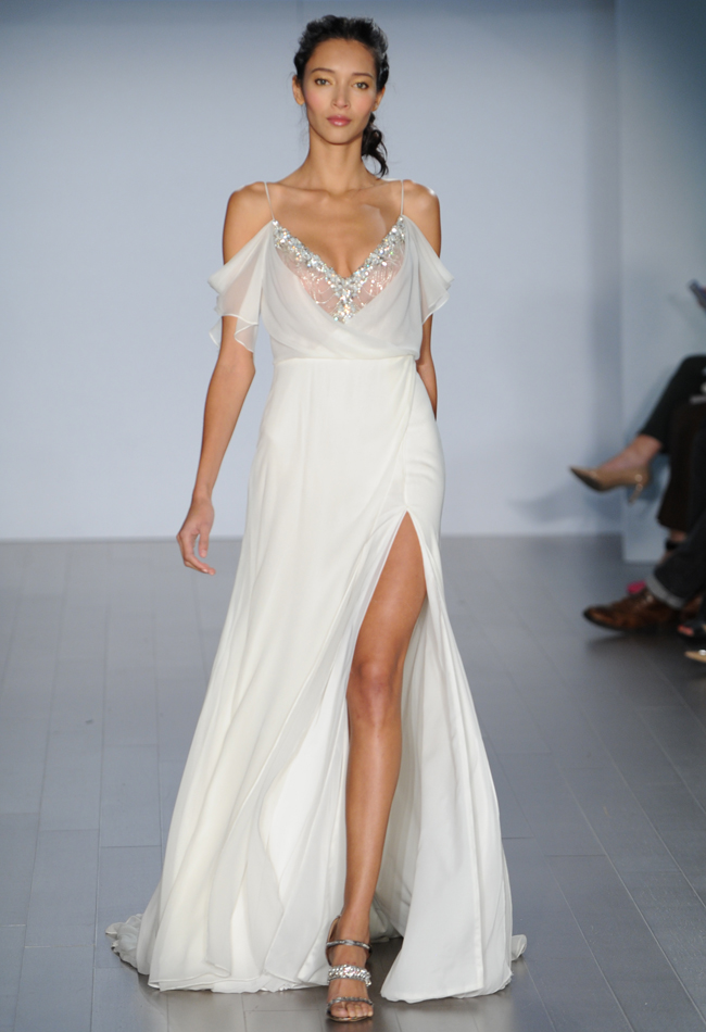 Screen Siren Slit Wedding Dress from Alvina Valenta's Fall 2015 Bridal Collection