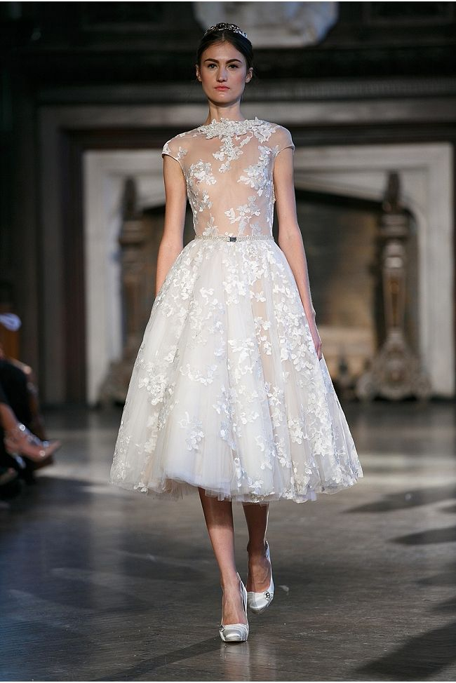 Tea Length Wedding Dress from Inbal Dror's Fall 2015 Bridal Collection