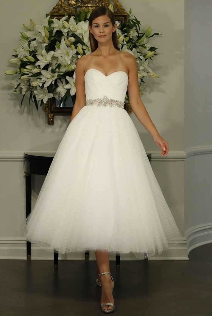Tea Length Wedding Dress from Romona Kaveza's Fall 2015 Bridal Collection