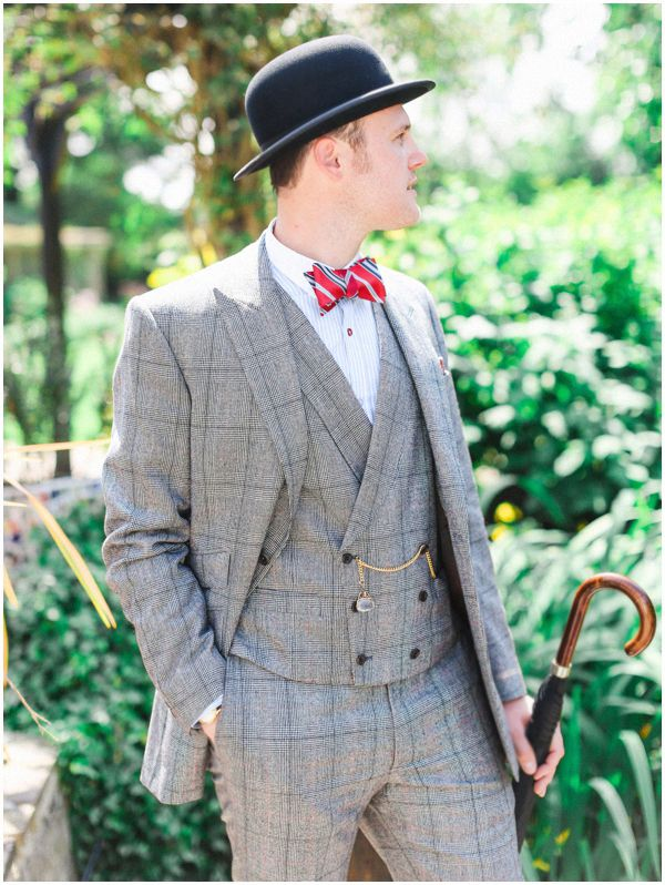 10 Ways to Style Your Groom Vintage - Tweed