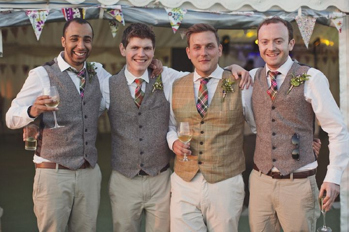 10 Ways to Style Your Groom Vintage - Tweed Waistcoat