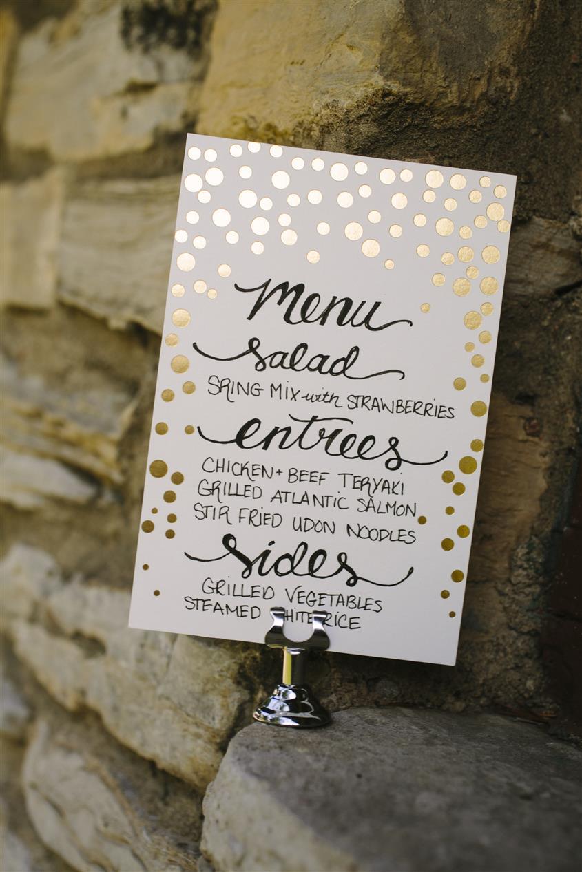 Letterpress Wedding Menu from Smock