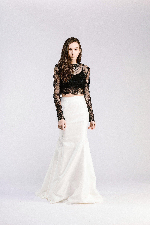 Willow Bridal Crop Top