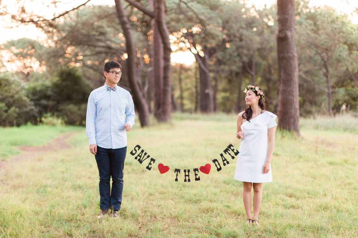 Engagement Session Save The Date Shot by We Are Origami Photography