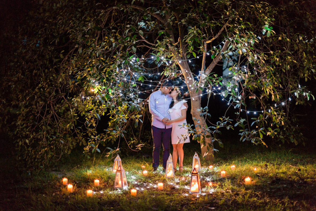 Gorgeous Night time Engagement Session by We Are Origami Photography