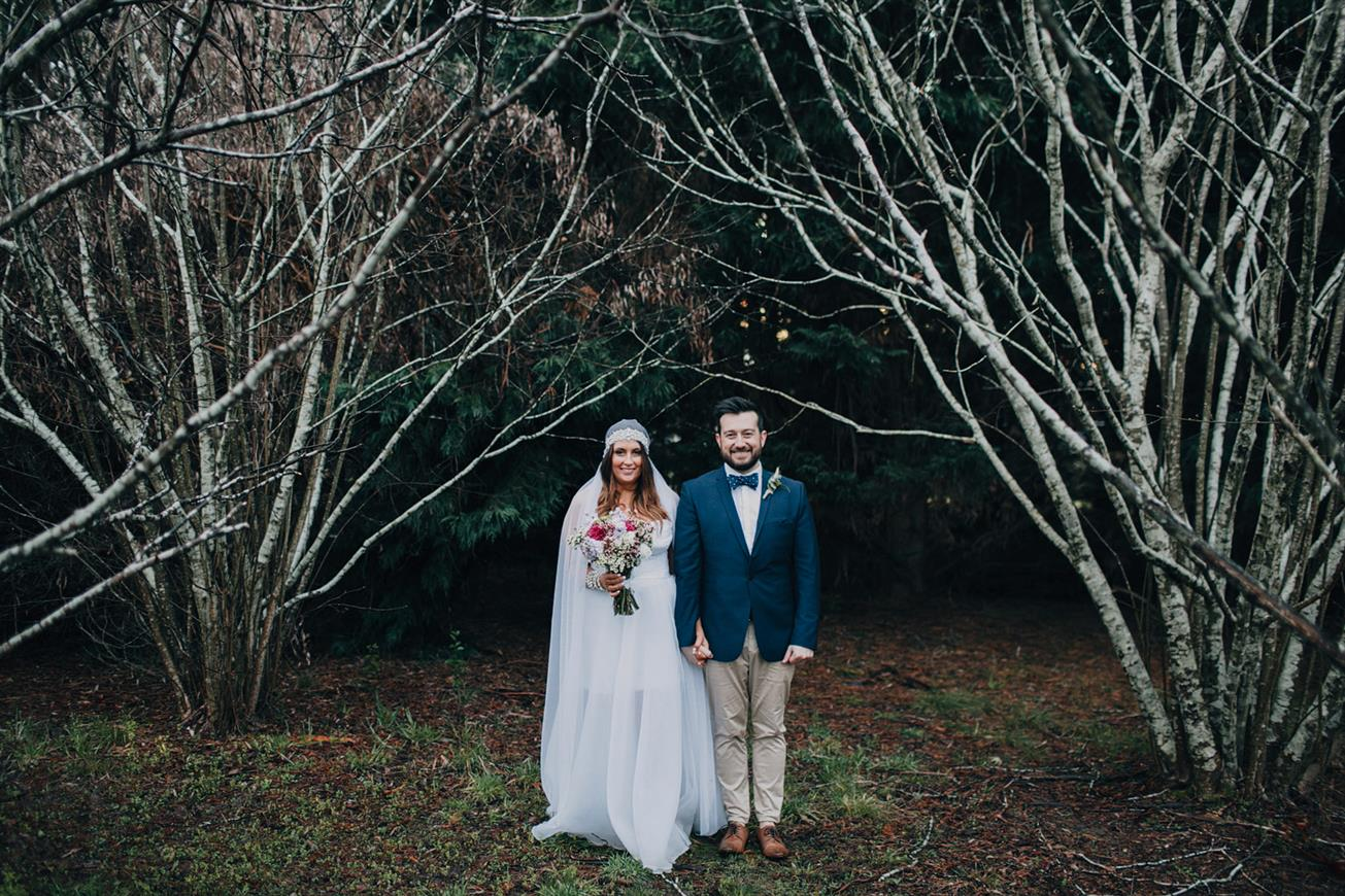 Bride & Groom - A Super Stylish DIY Wedding Even the Rain Couldn't Dampen from John Benavente Photography