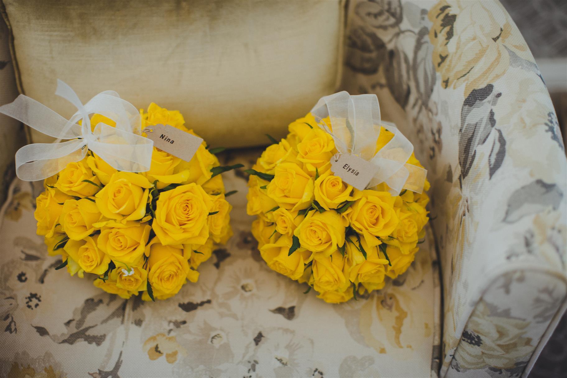 Flower Girl Pomander Bouquets - A Spring 1960s Inspired Wedding