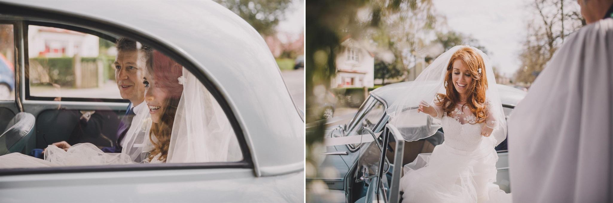 Bride Arriving - A Spring 1960s Inspired Wedding