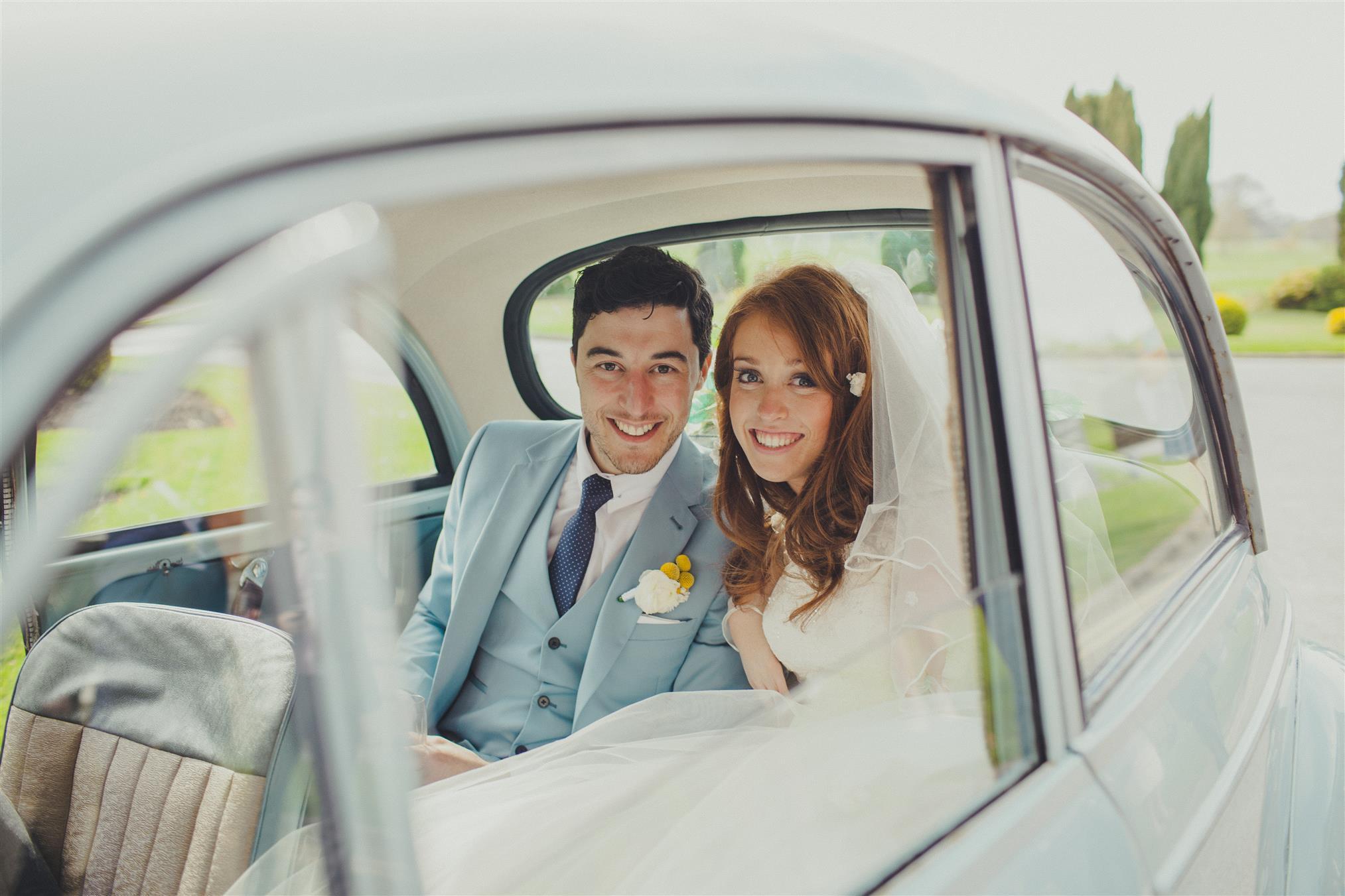 Bride & Groom - A Spring 1960s Inspired Wedding