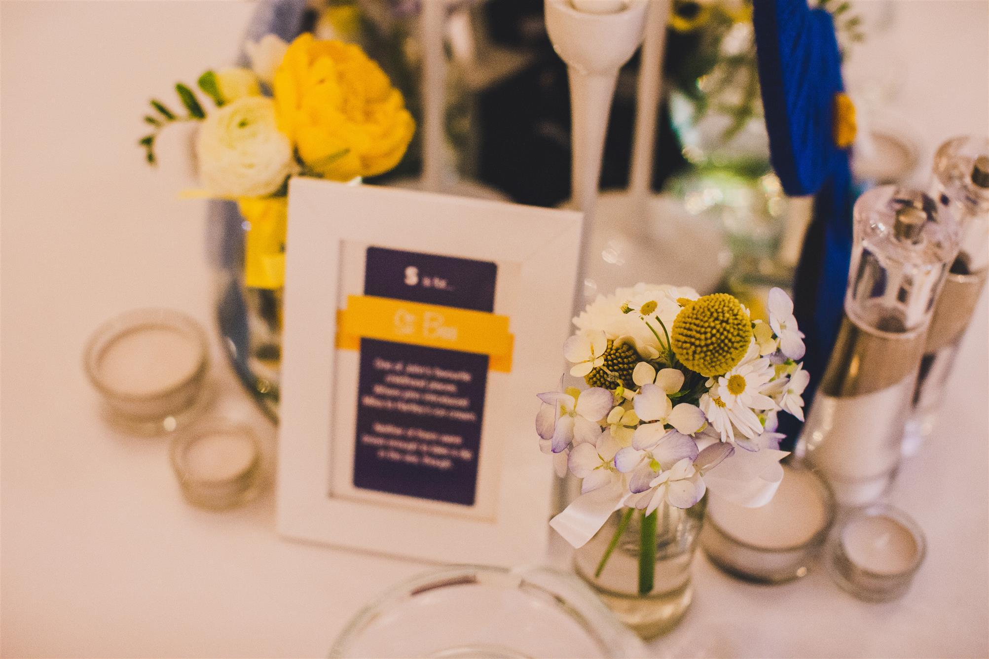 Reception Decor - A Spring 1960s Inspired Wedding