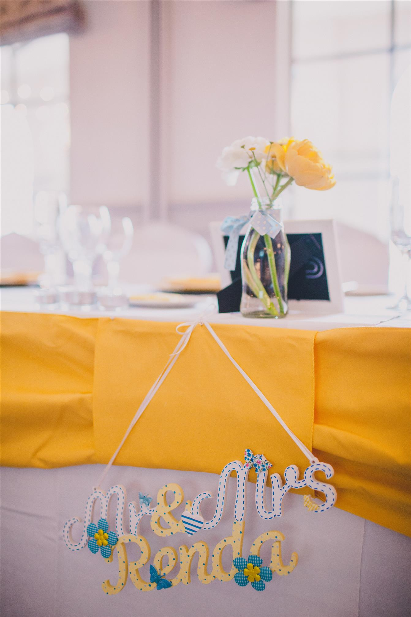 Reception Decror - A Spring 1960s Inspired Wedding