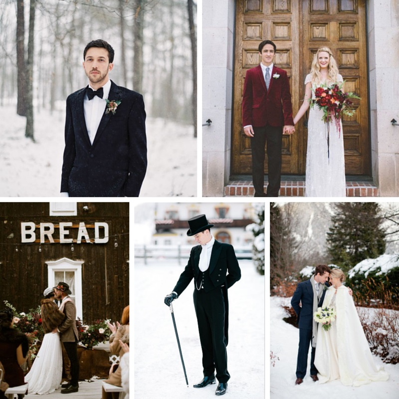 5 Dapper Winter Groom Ideas