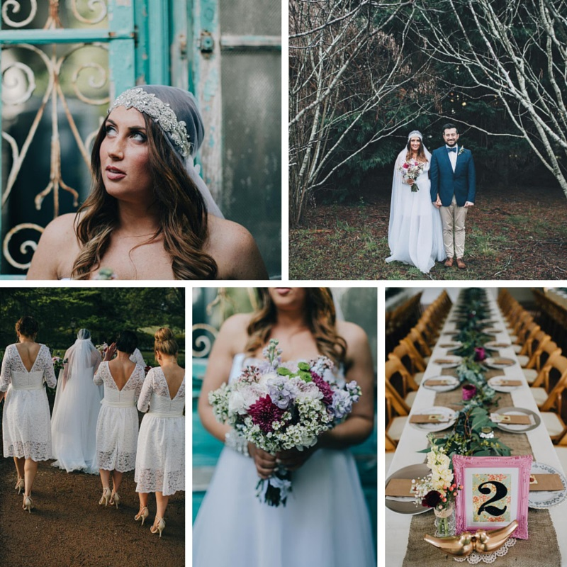 A Super Stylish DIY Wedding Even the Rain Couldn't Dampen from John Benavente Photography