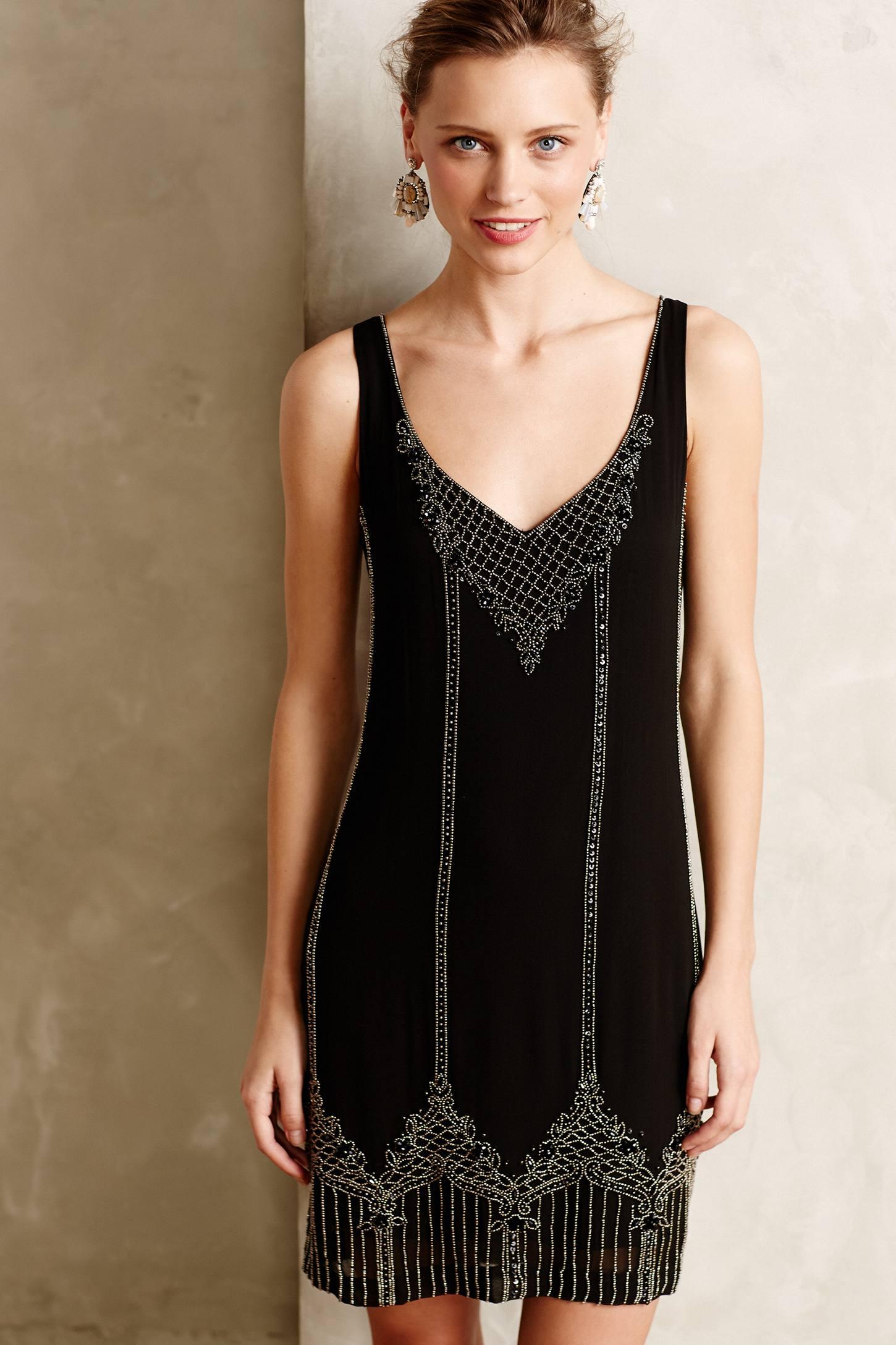 Art Deco Black Bridesmaid Dress