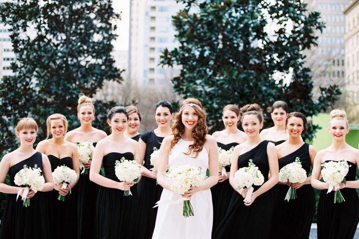 Bridesmaid in Ever Flattering Black Dresses