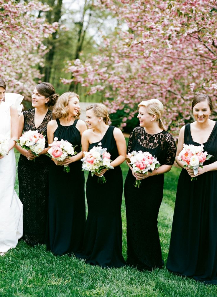 Long Sleeve Black Bridesmaids Dresses