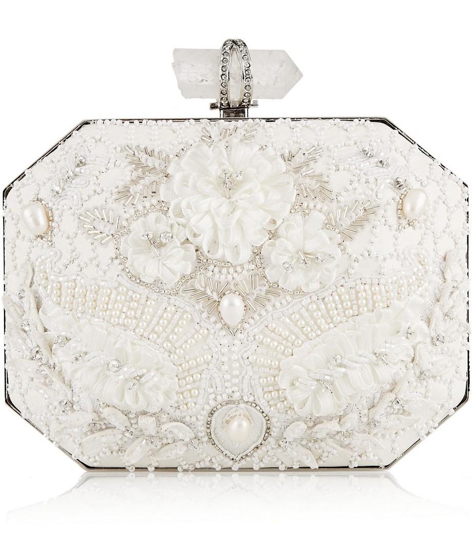 Elegant Ivory Bridal Clutch