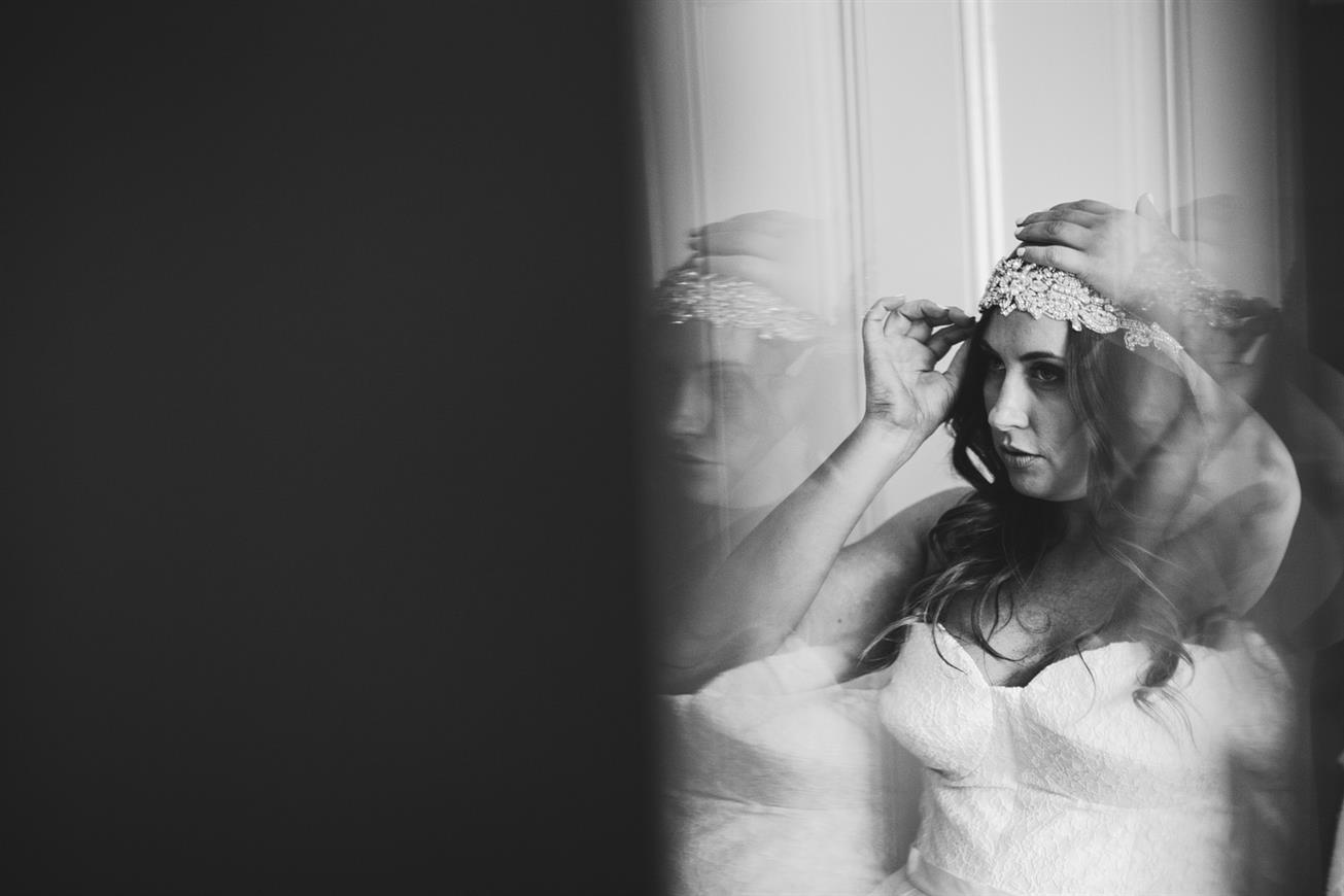 DIY Veil - A Super Stylish DIY Wedding Even the Rain Couldn't Ruin from John Benavente Photography