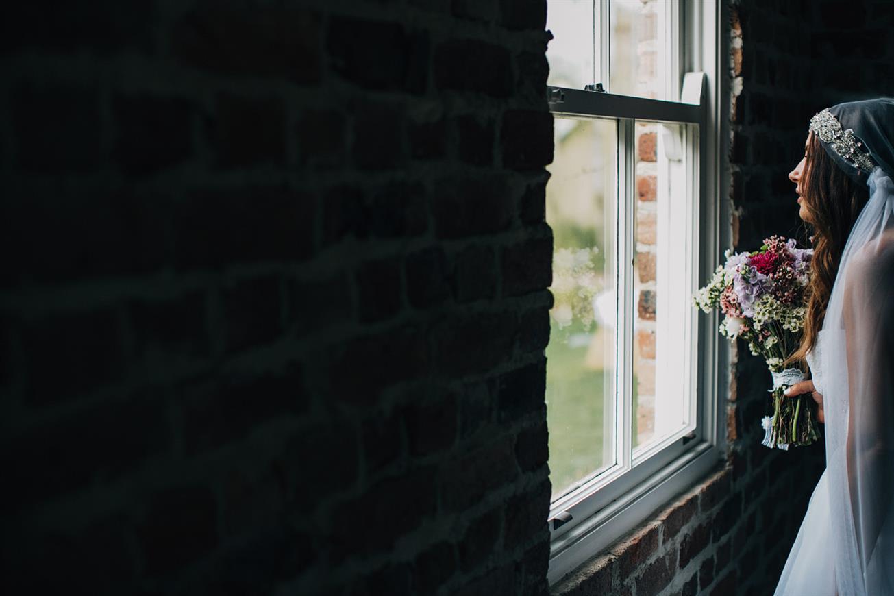 Bride - A Super Stylish DIY Wedding Even the Rain Couldn't Ruin from John Benavente Photography