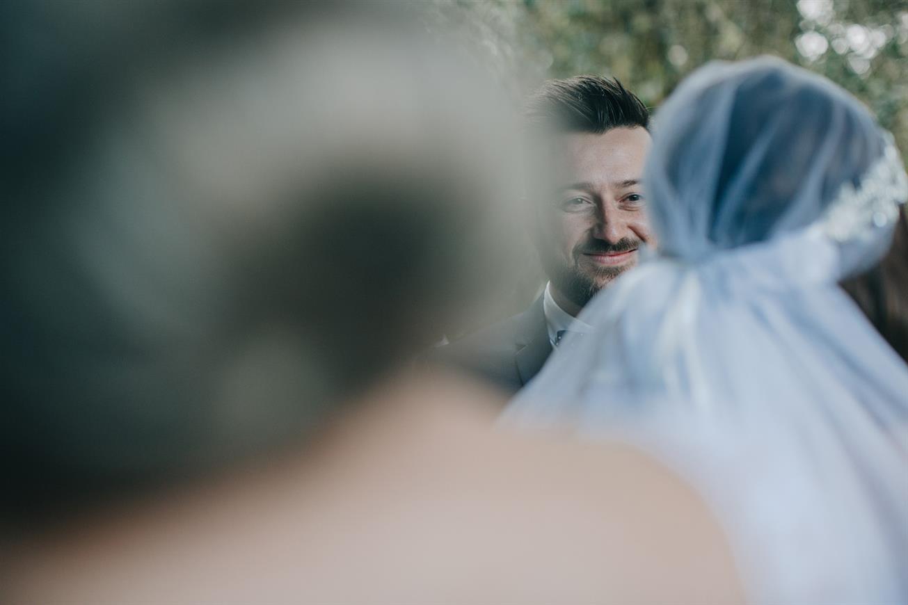 Bride & Groom - A Super Stylish DIY Wedding Even the Rain Couldn't Ruin from John Benavente Photography