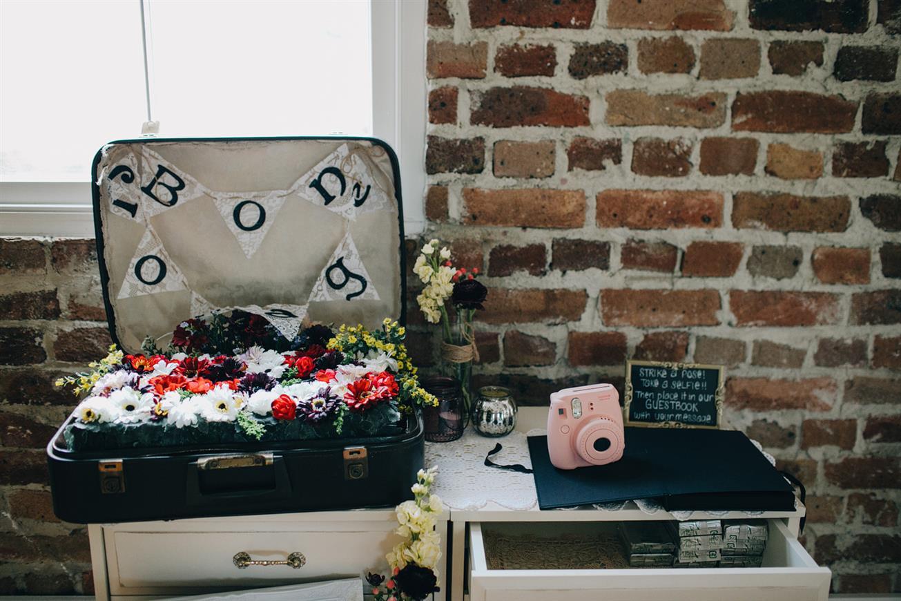 DIY Reception Decor - A Super Stylish DIY Wedding Even the Rain Couldn't Ruin from John Benavente Photography