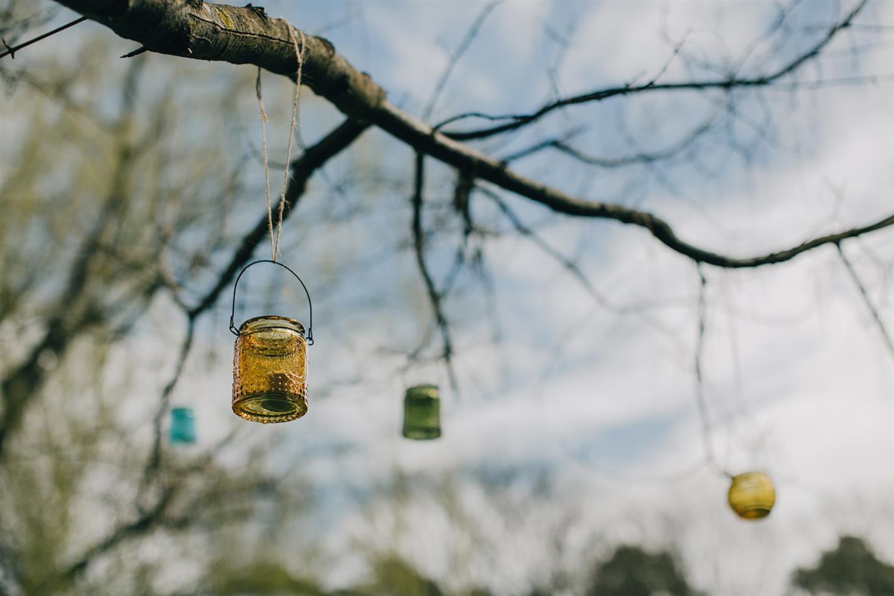 DIY Wedding Decor - A Super Stylish DIY Wedding Even the Rain Couldn't Ruin from John Benavente Photography