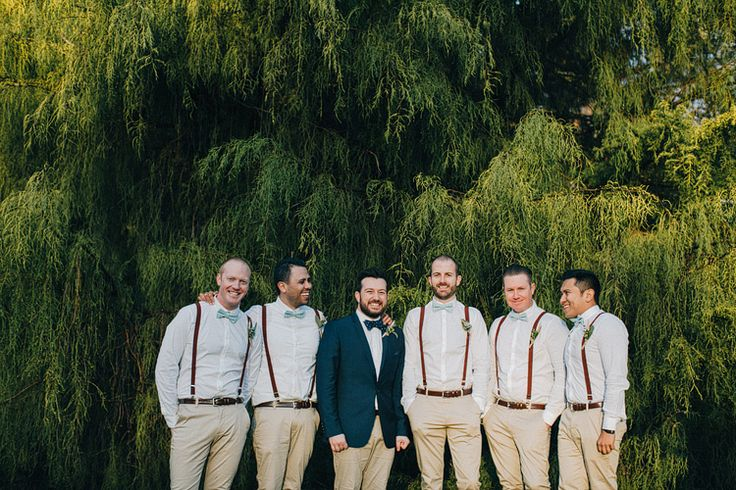 Groom & Groomsmen - A Super Stylish DIY Wedding Even the Rain Couldn't Ruin from John Benavente Photography