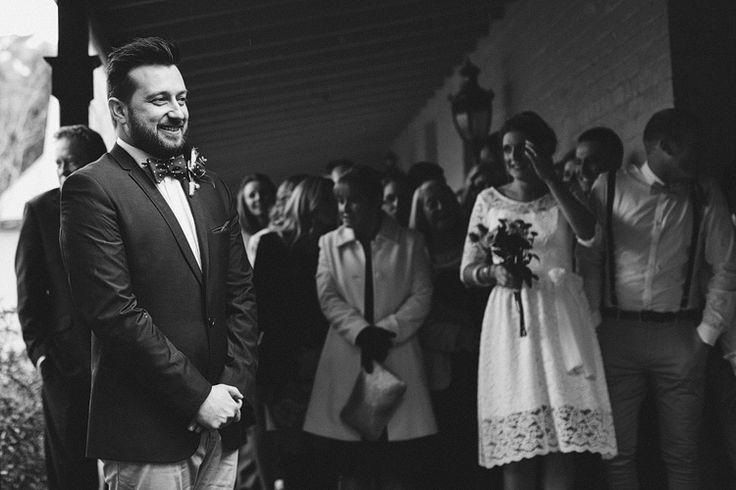 Groom - A Super Stylish DIY Wedding Even the Rain Couldn't Ruin from John Benavente Photography