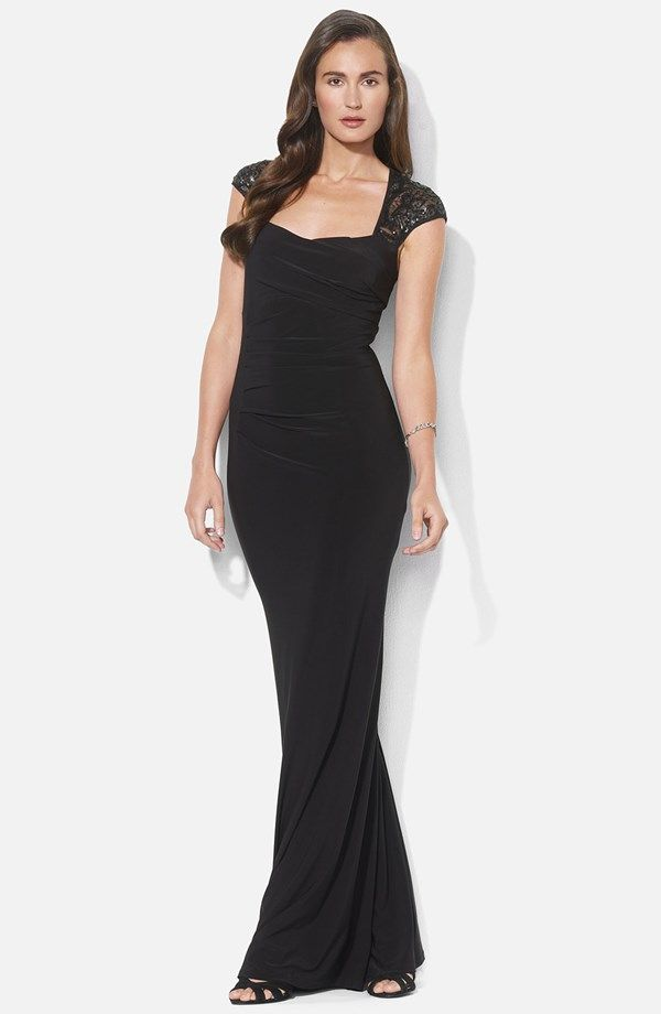 Black bridesmaid maxi dress