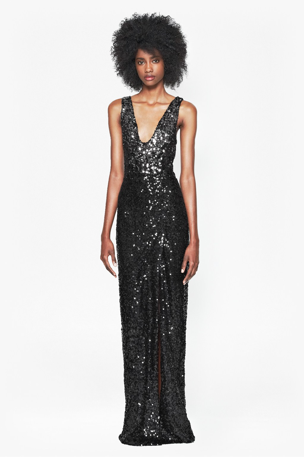 Sequin Black Gown