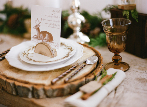 Winter White Wedding Place Setting