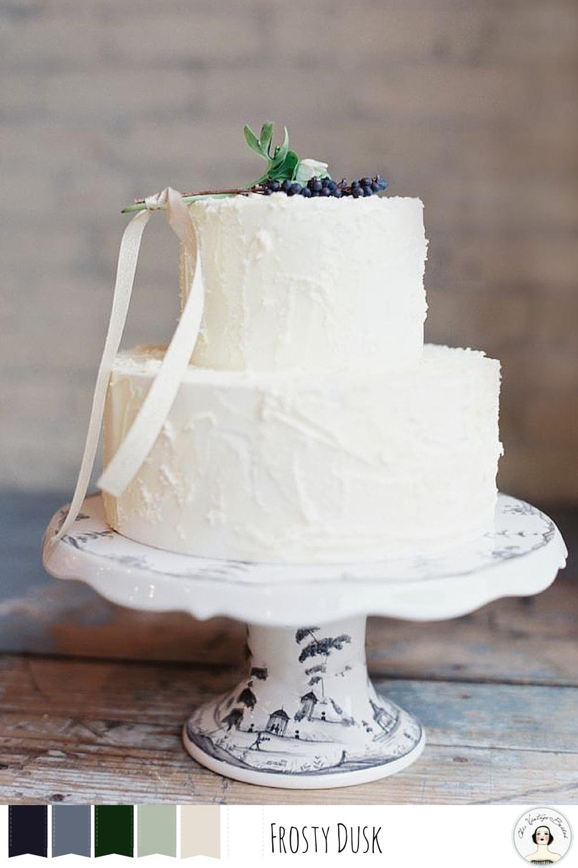 Winter Wedding Colour Palettes Frosty Dusk