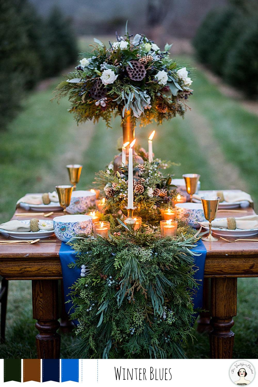 Winter Wedding Colour Palettes Winter Blues