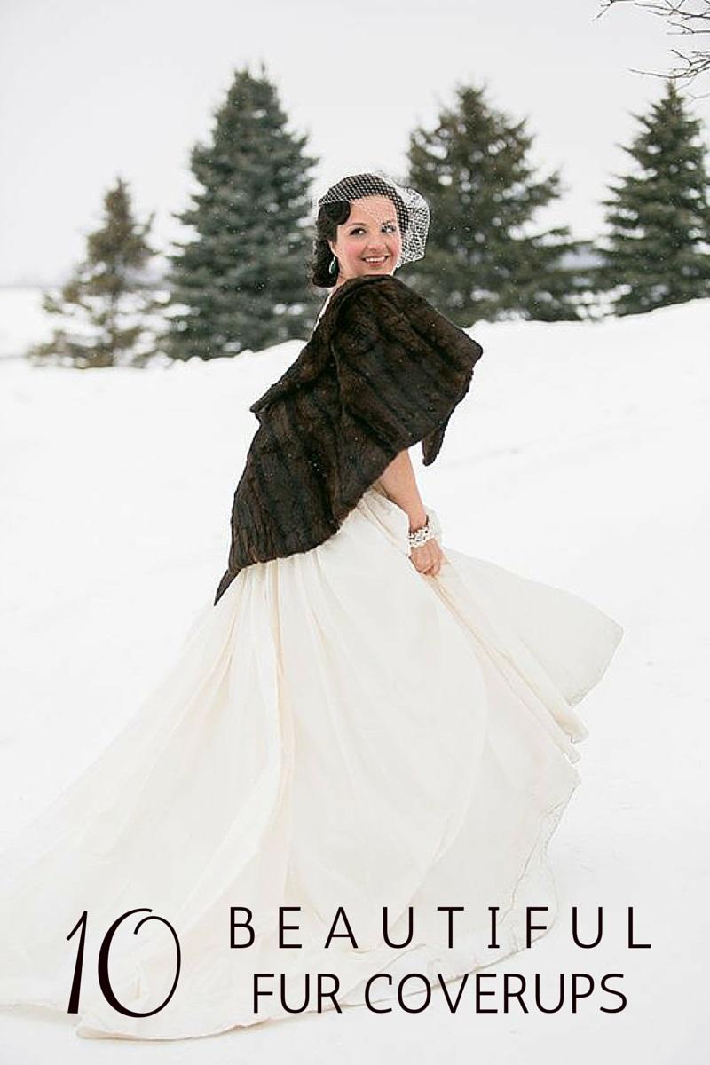 10 Beautiful Fur Bridal Coverups