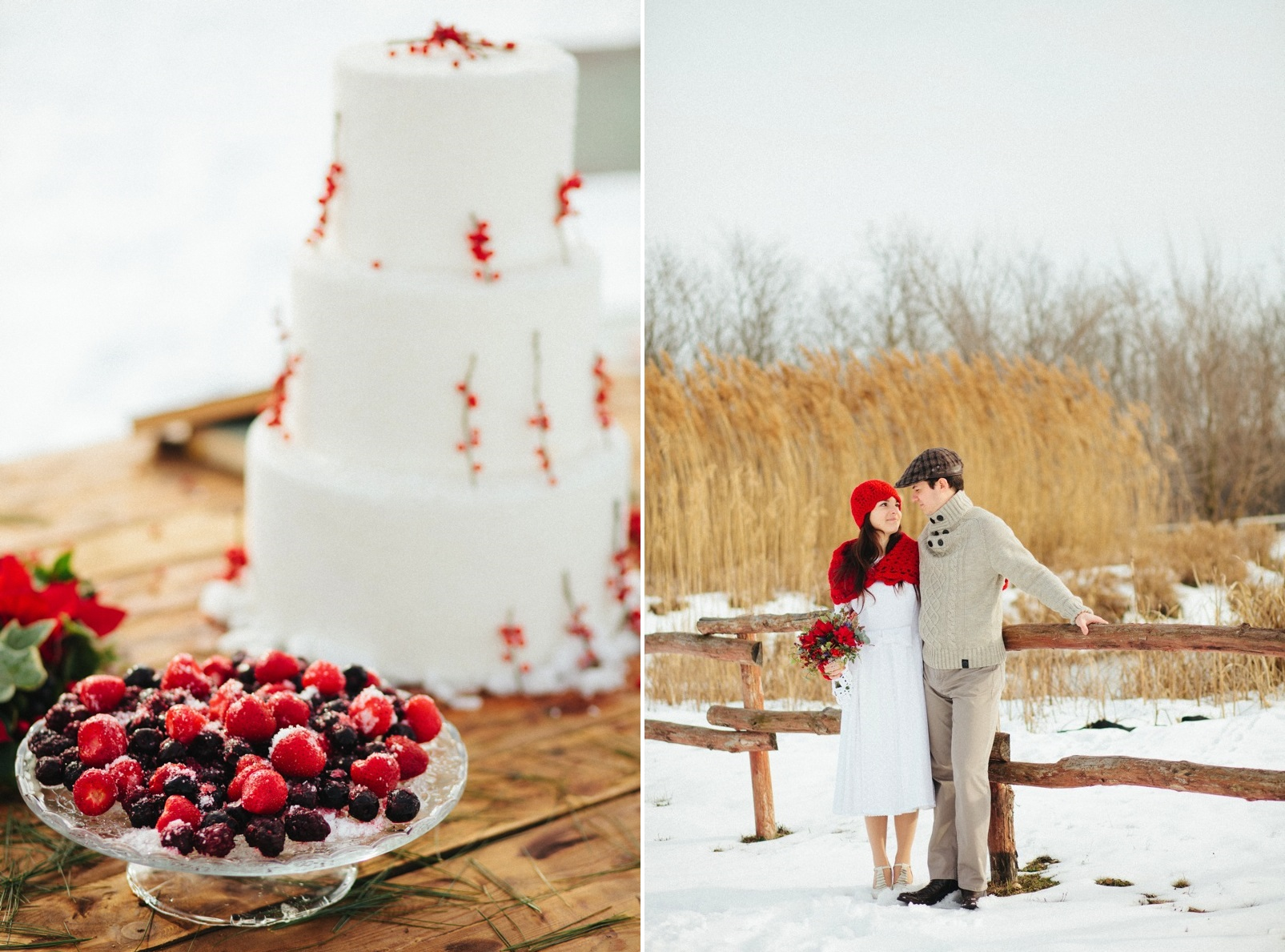 A Christmas Wedding Inspiration Shoot Full of Rustic Charm from Bell Studios