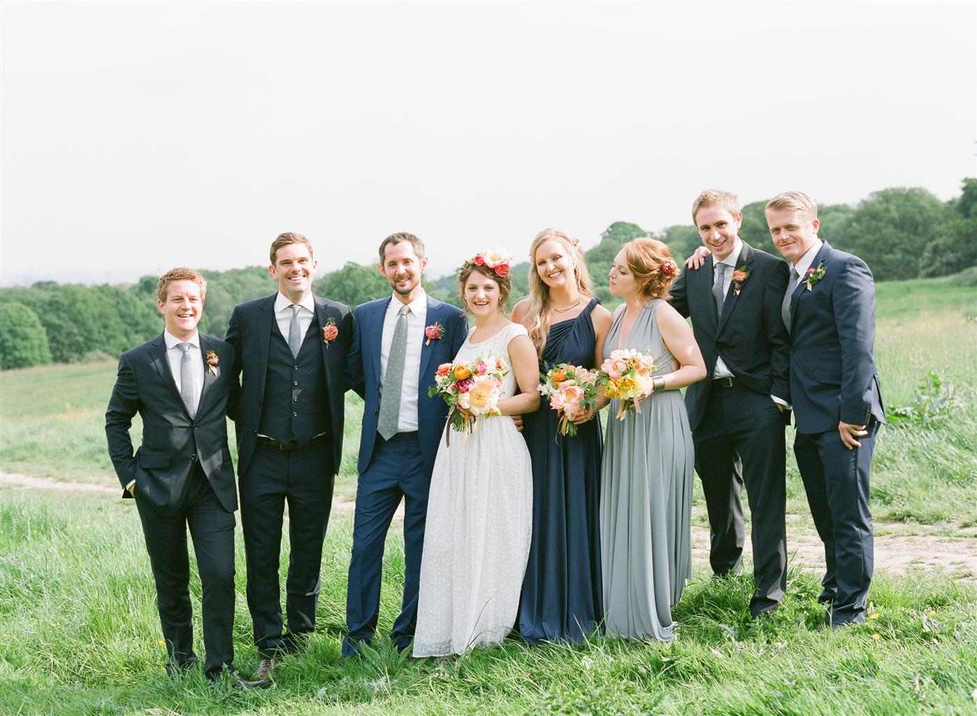 Wedding party - A 1940s Wedding Dress for a Sweet Early Summer Wedding from Taylor & Porter Photography